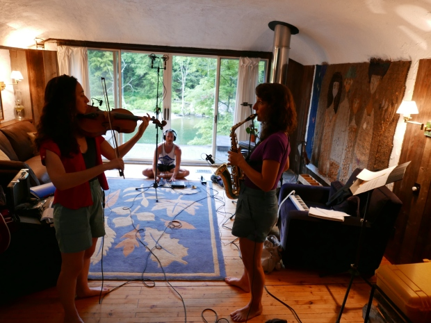 Patchtax with Kevin Laba recording in Vermont